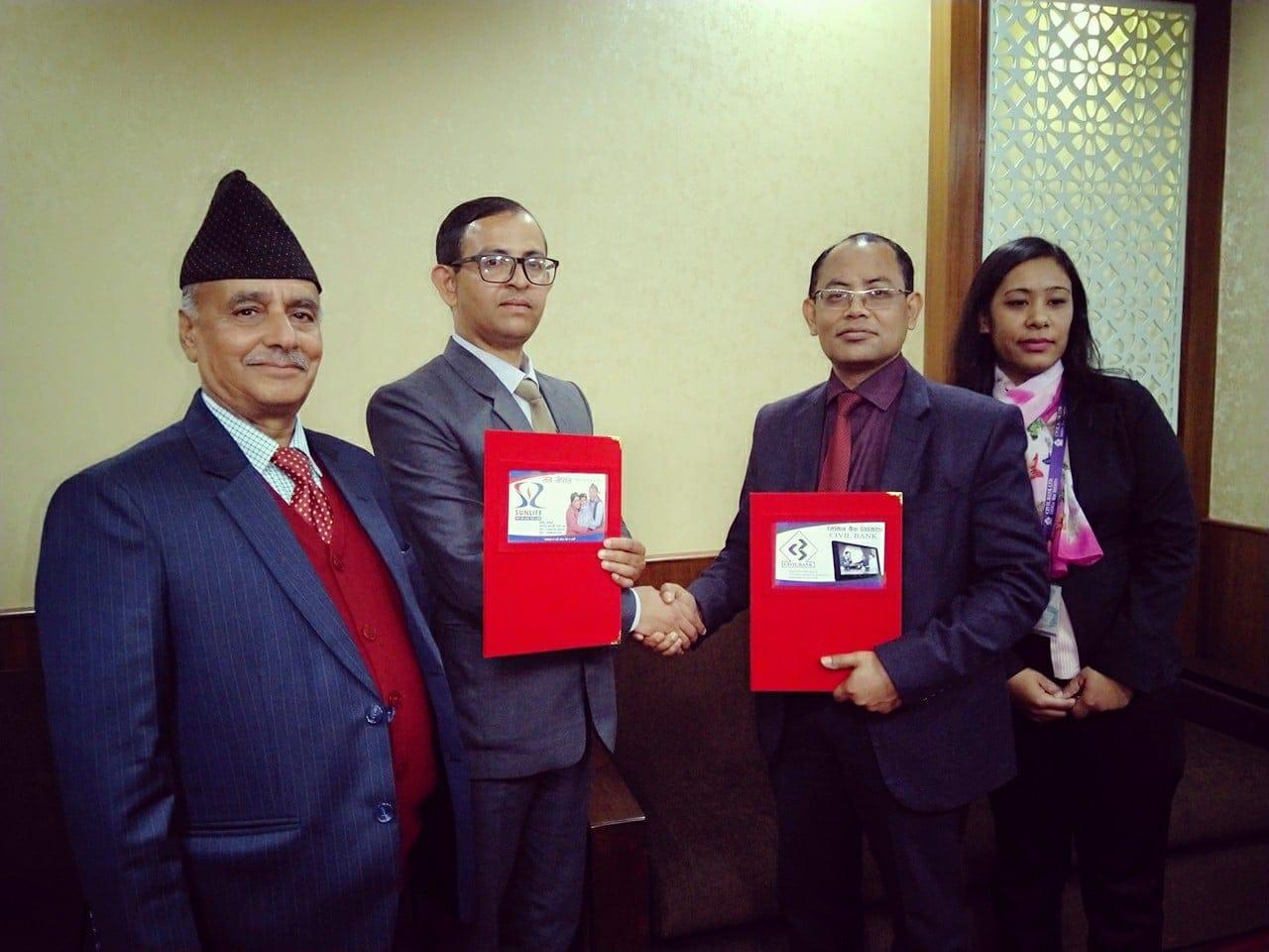 Civil Bank & Sun Nepal Bancasurance