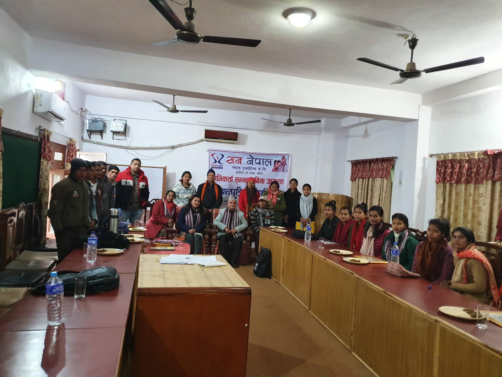 Insurance Awareness Programme at Gulariya and Bhurigaun
